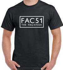FAC51 Mens T-Shirt Factory Records Hacienda Stone Roses New Order Happy Mondays