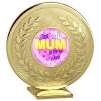 MOTHERS DAY GIFT BIRTHDAY PRESENT BEST MUM IN THE WORLD AWARD GB006.01 FREE P&P