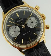 Breitling Top Time Vintage Gold Two-Register Chronograph Black Dial 2000 MINT