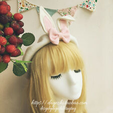 Japanese Sweet Lolita Mori Girl Kawaii Rabbit Ears Cute Beret Cap Painter Hat
