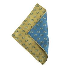 Sigma Chi Yellow Background Letter Handkerchief/Hanky