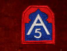 US Army 5th Army Shoulder Insignia Type 1 Class 1 Mint Genuine
