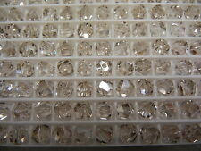 24 swarovski graphic cube beads,6mm silver shade #5603
