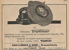 Z0142 Obiettivo fotografico VOIGTLANDER - Pubblicità del 1926 - Advertising