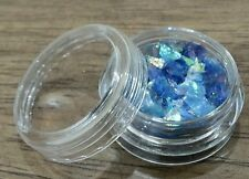 ICE MYLAR 2g Cracked Glitter Nail Art For Acrylic or Gel -Blue