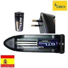 2X PILA RECARGABLE 16340 CR123A LR123A 2000mAh Li-ion 3,6V GTL Litio + cargador