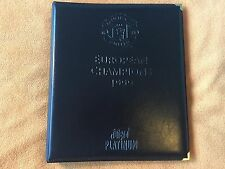 FUTERA MANCHESTER UNITED EUROPEAN CHAMPIONS 1999 COMPLETE SET IN LEATHER ALBUM