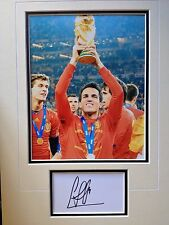 CESC FABREGAS - SPANISH WORLD CUP WINNING FOOTBALLER - SIGNED PHOTO DISPLAY