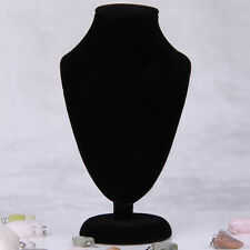Wood Black Velvet Display Holder Stand for Necklace Chain Jewelry HOT