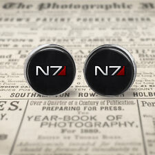 N7 12mm Stud Post Earrings, Mass Effect earrings, Gift Box, Gift for Her.