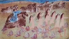 DARIUSH litografia + cornice Odalische quadro moderno idea arredo grecoarte