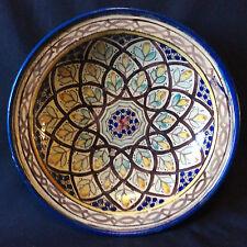 Maroc Fès céramique plat décor polychrome 1ère moitié XXème AL- MAGHRIB