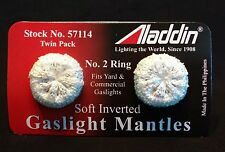 ALADDIN LAMP Part # 57114 GAS LIGHT MANTLES SOFT INVERTED 2-PACK #2 CERAMIC RING