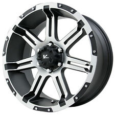 4-NEW V Rock VR1 Overdrive 18X9 6x135 0 Black/Machined Wheels Rims