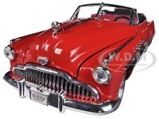 1949 BUICK ROADMASTER RED/BLACK CUSTOM 1/18 DIECAST MODEL CAR BY MOTORMAX 79004