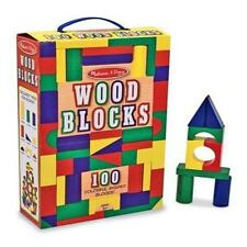 Toddler Toy Melissa & Doug 100-Piece Wood Blocks Set Kids Play Game Pretend Pre-