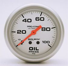 Auto Meter Ultra-Lite Mechanical Oil Pressure Gauge 2-5/8 in. 0-100 Psi (67mm)