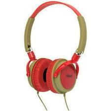 Urbanz Lightweight DJ Style Full Ear Headphones Red