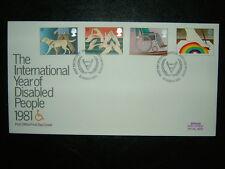 1981 ANNO INTERNAZIONALE DISABILI UFFICIO POSTALE FDC & Windsor SHS