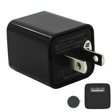 USB Wall Charger AC Adapter US Plug Spy Hidden Camera Video Recorder 8GB 1080P