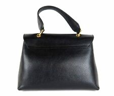 100% Auth NINA RICCI Leather Hand Shoulder Bag Black Made In Italy W/Dust Bag