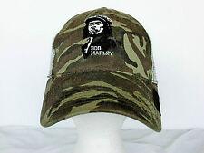 Bob Marley Cap Adult Trucker Hat Camo Snapback embroidered Reggae Jamaica Rasta