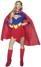 ADULTS WOMENS SUPERHEROES SUPERGIRL SUPERMAN HALLOWEEN COSTUME - MEDIUM