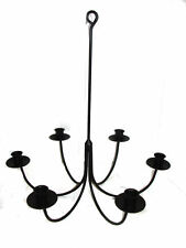 Black Wrought Iron 6 Arm Candle Chandelier  USA Made
