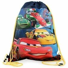 Sling Bag Tote Drawstring Non-Woven Disney Cars McQueen & Friends NEW