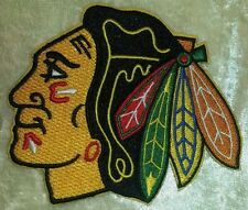 "Chicago Blackhawks NHL Logo 3.5"" Iron On Embroidered Patch ~USA Seller~"