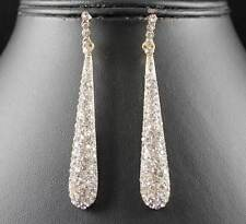 GOLD AUSTRIAN CRYSTAL RHINESTONE DROP CHANDELIER DANGLE EARRINGS BRIDAL E2094G