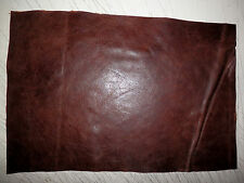 """Distressed Dark Brown Cowhide Leather Scrap 9.5""""x14.5"""" avg .75mm thick #832"""