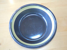 Mikasa MAJORCA E3000 Round Serving Vegetable Bowl 9 3/8 Brown w Mustard Band