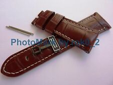 Genuine PANERAI Alligator Strap Band Antique Brown Ecru 26/22mm OEM BRAND NEW!!!