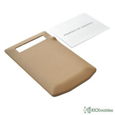 NEW PORSCHE DESIGN LEATHER BATTERY DOOR COVER IN SAND BEIGE FOR BLACKBERRY P9981