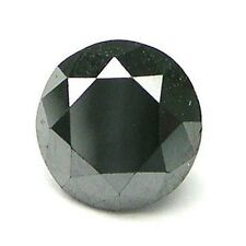 1 STONE 2mm CALIBRATED BLACK BRILLIANT ROUND POLISHED DIAMONDS