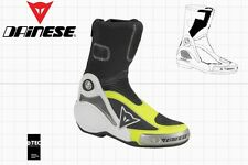 DAINESE AXIAL PRO IN MOTOGP RACE BOOTS BLACK YELLOW US 7.5 - EU 40 - 265 mm