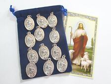 Wholesale Lot 12 St. Joan of Arc Medals for Re-sell, Catholic, Christian