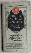 1932 BOOKLET/LIST OF MEMBERS OF SOCIETY OF AMERICAN MAGICIANS HOUDINI,MARDONI,