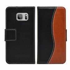 Wallet S-Line Leather Case Cover Pouch Saver For Samsung Galaxy S7 Edge