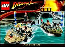 INSTRUCTIONS ONLY LEGO VENICE CANAL CHASE 7197 Indiana Jones book from set