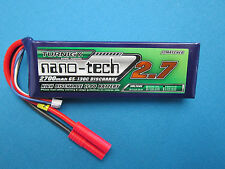 TURNIGY NANO-TECH 2700mAh 3S 11.1V 65C 130C LIPO BATTERY 4MM HXT TREX 450 QUAD