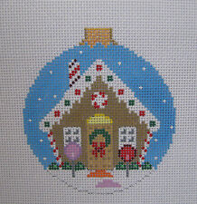Handpainted Needlepoint Canvas Susan Roberts Gingerbread House Ornament 7209