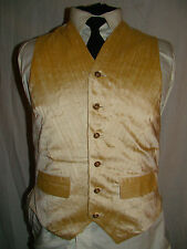 £350 GARY ANDERSON- SAVILE ROW-LONDON FAB DIAGONAL PLEATED SILK WAISTCOAT UK 36""