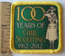 Girl Scout 100th Year ANNIVERSARY PATCH Classic Khaki Uniform Salute 1912-2012