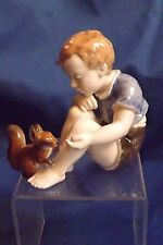 """Early Rosenthal Circa 1940s """"Child Loving Squirrel"""" 4 1/2"""" Figurine Mint"""