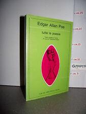 LIBRO Edgar Allan Poe TUTTE LE POESIE testo inglese a fronte 1^ed.1988