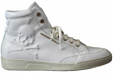 PHILIPP PLEIN 098684 ICON MEN'S LTD ED SKULL WHITE LEATHER HIGH SNEAKER - 8/42