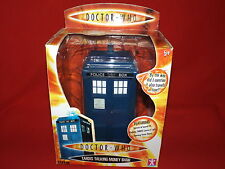 DOCTOR WHO TARDIS TALKING MONEY BOX-RARE 9TH DOCTOR VERSION 2005-BOXED/WORKING