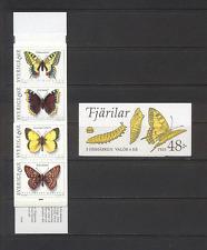 Sweden 1993 Butterflies/Insects/Nature/Conservation/Butterfly 8v bklt (n18616)